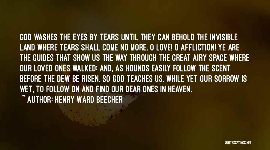 Eyes Show Love Quotes By Henry Ward Beecher