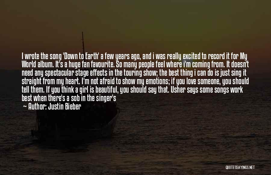 Eyes Show Love Quotes By Justin Bieber