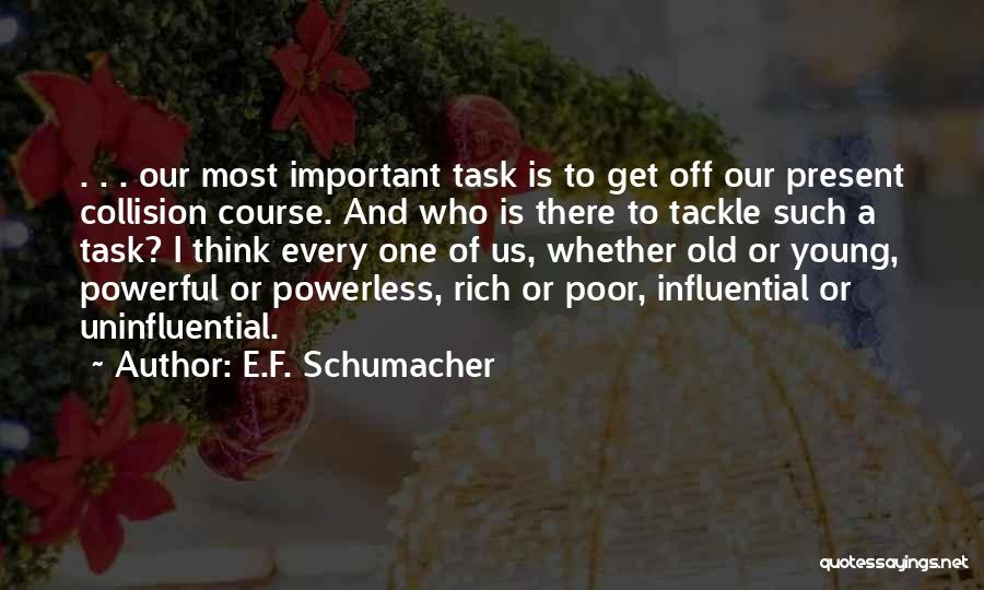 F.a.k.e Quotes By E.F. Schumacher