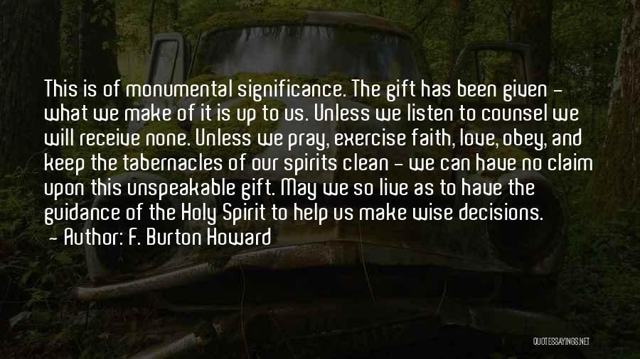 F. Burton Howard Quotes 1211398