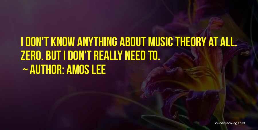 F Zero Quotes By Amos Lee