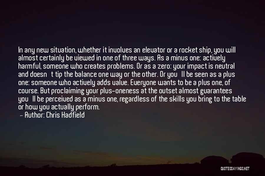 F Zero Quotes By Chris Hadfield