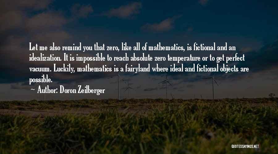 F Zero Quotes By Doron Zeilberger