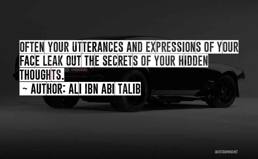 Face Hidden Quotes By Ali Ibn Abi Talib