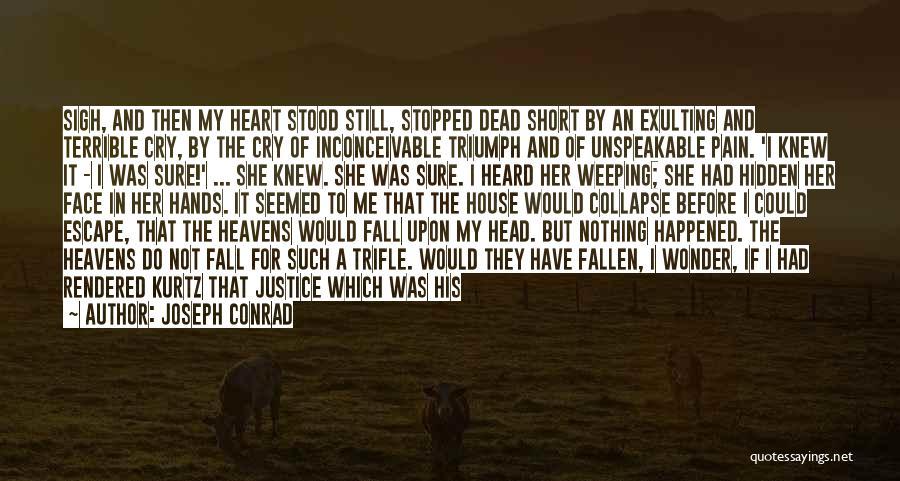 Face Hidden Quotes By Joseph Conrad