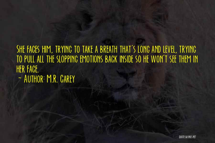 Face Hidden Quotes By M.R. Carey