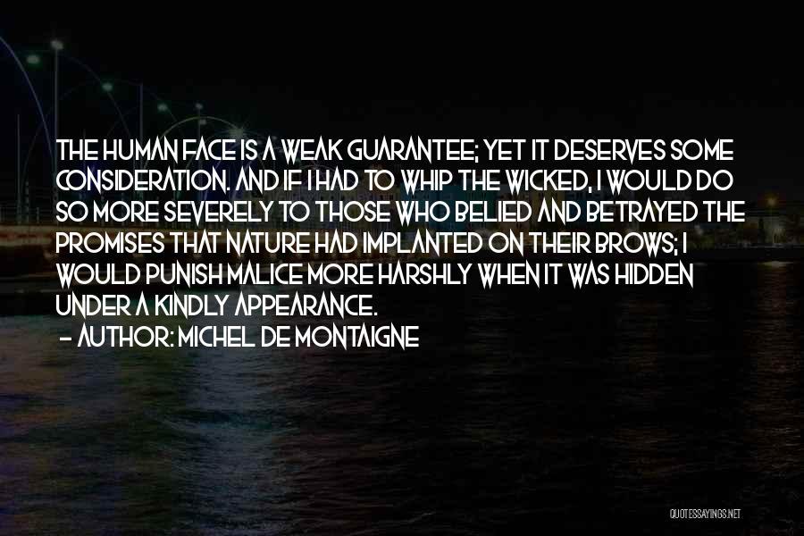 Face Hidden Quotes By Michel De Montaigne