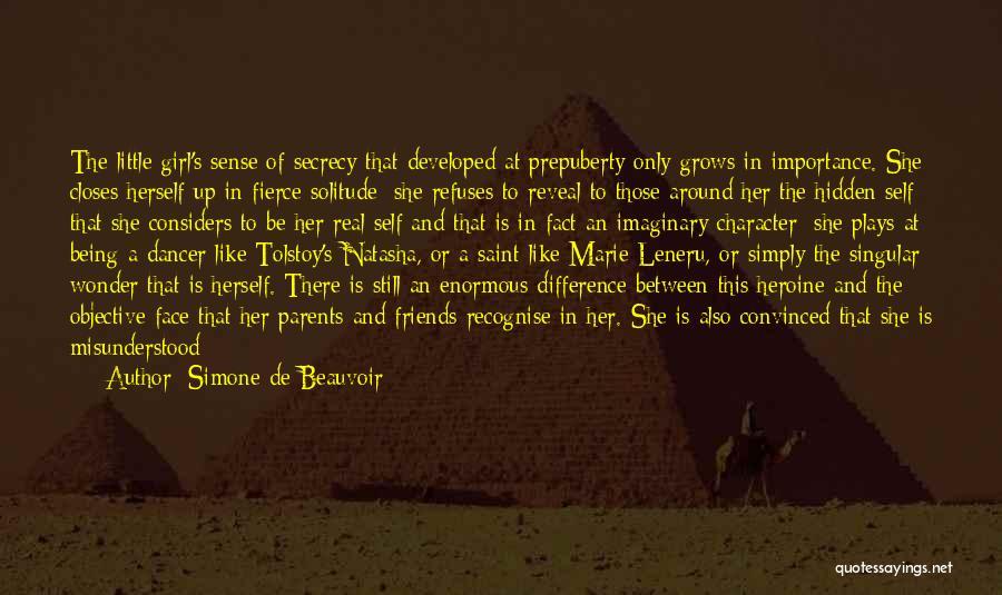 Face Hidden Quotes By Simone De Beauvoir