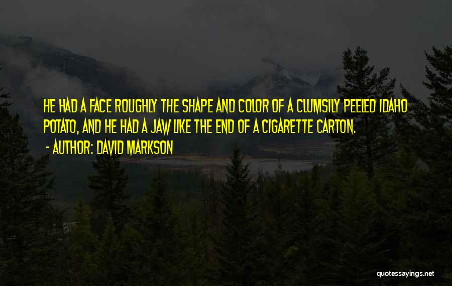Face Shape Quotes By David Markson