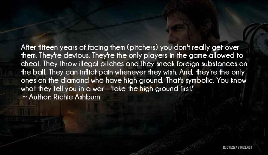 Facing Quotes By Richie Ashburn