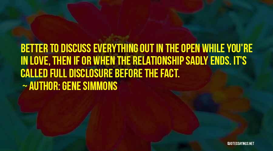 Facts.co Love Quotes By Gene Simmons