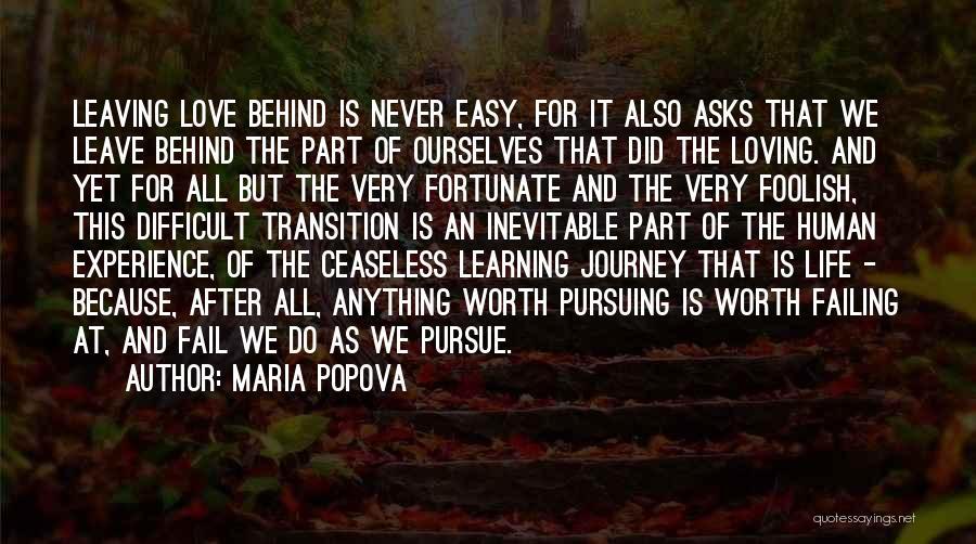 Failing Love Quotes By Maria Popova