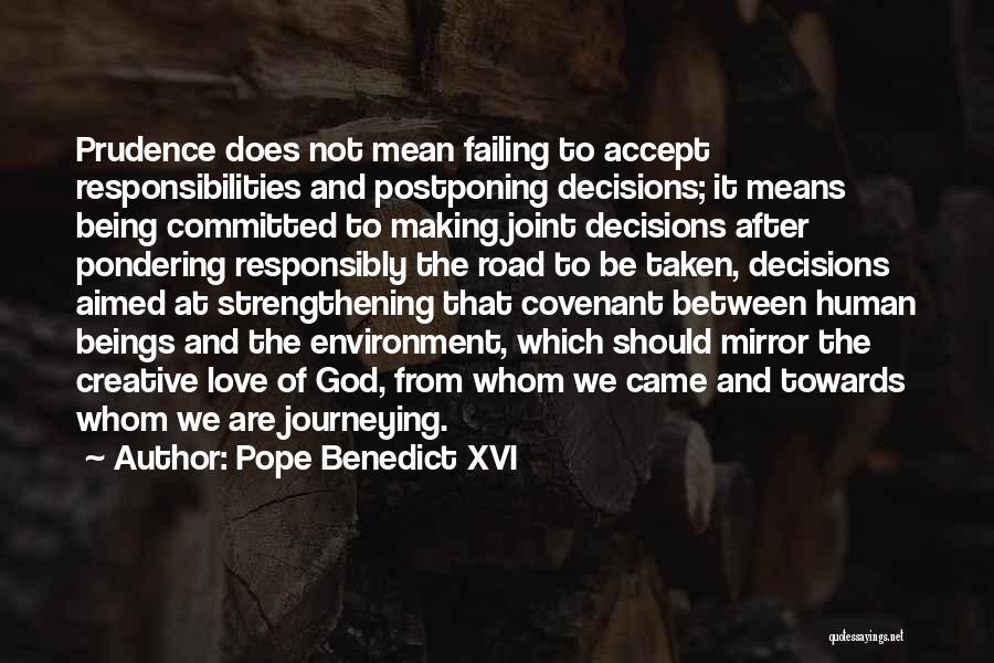 Failing Love Quotes By Pope Benedict XVI