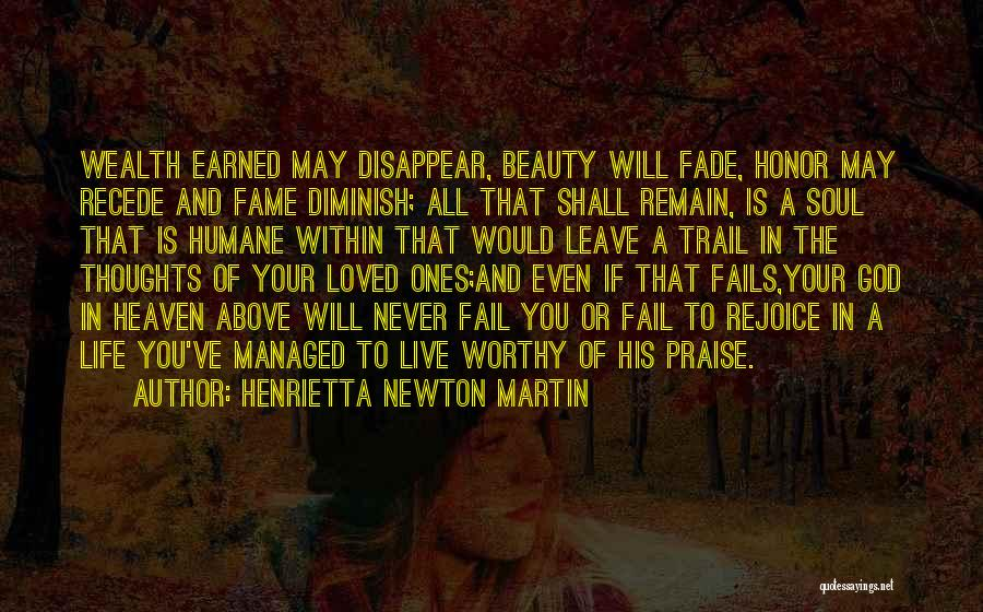 Fails In Life Quotes By Henrietta Newton Martin