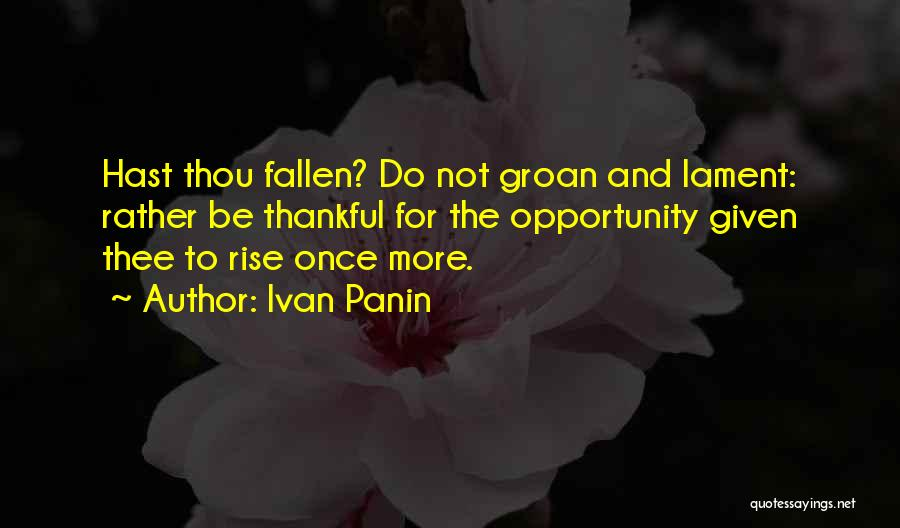 Failure And Opportunity Quotes By Ivan Panin