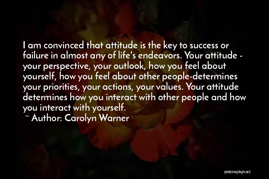 Failure And Success In Life Quotes By Carolyn Warner