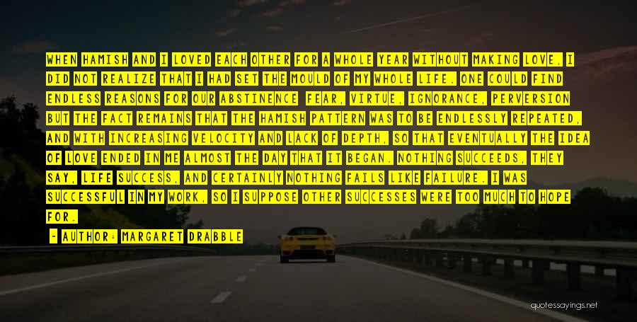 Failure And Success In Life Quotes By Margaret Drabble