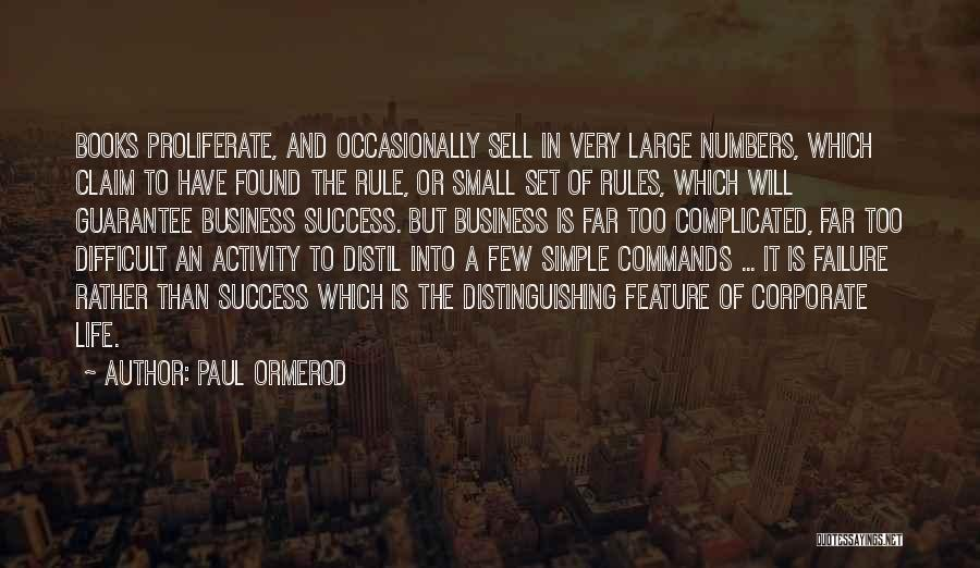 Failure And Success In Life Quotes By Paul Ormerod