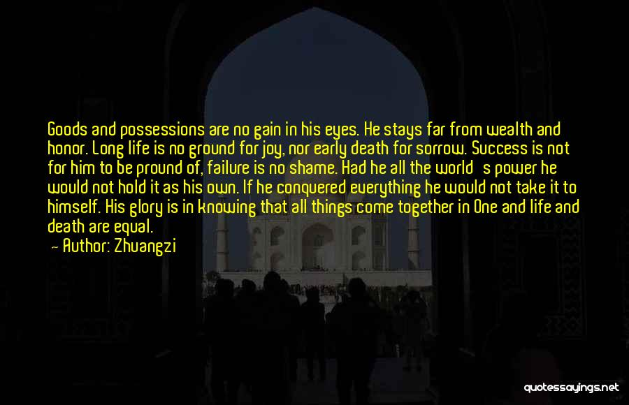 Failure And Success In Life Quotes By Zhuangzi