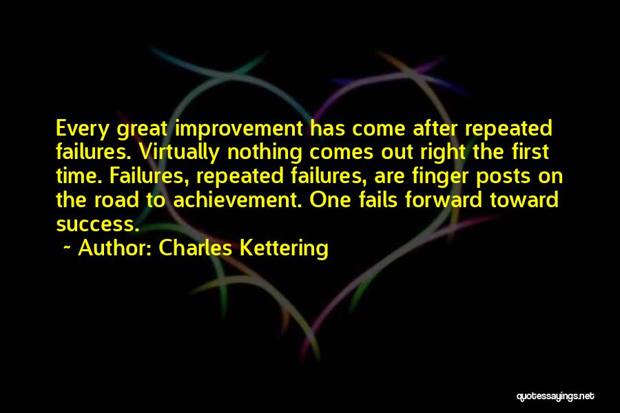 Failures To Success Quotes By Charles Kettering