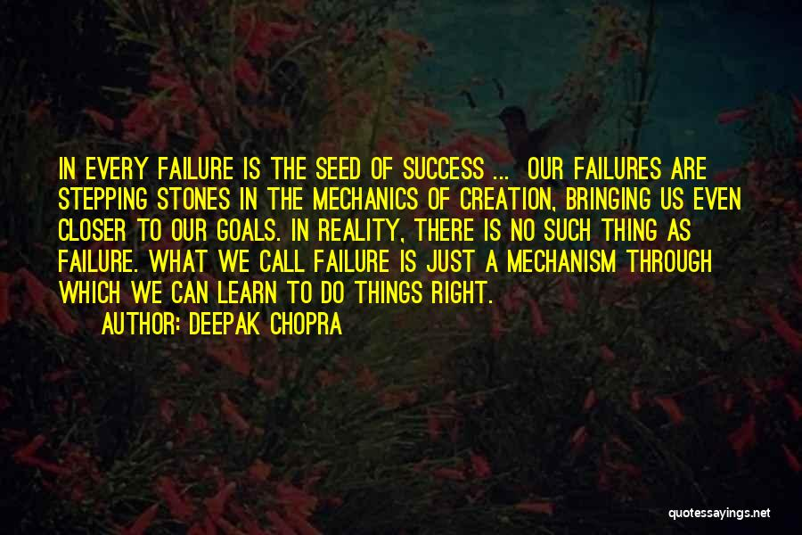 Failures To Success Quotes By Deepak Chopra