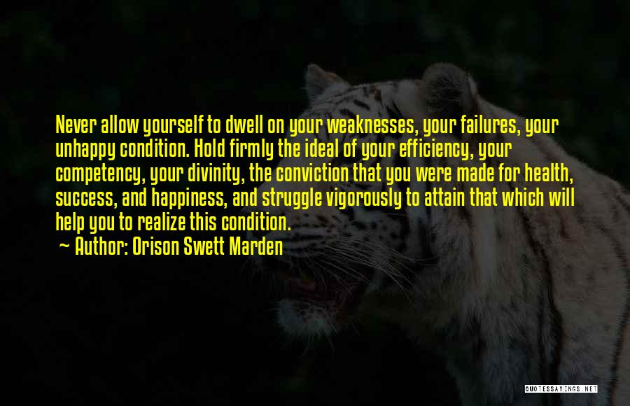 Failures To Success Quotes By Orison Swett Marden