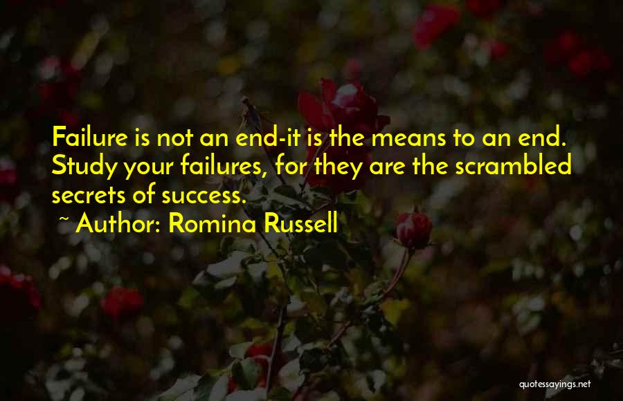 Failures To Success Quotes By Romina Russell