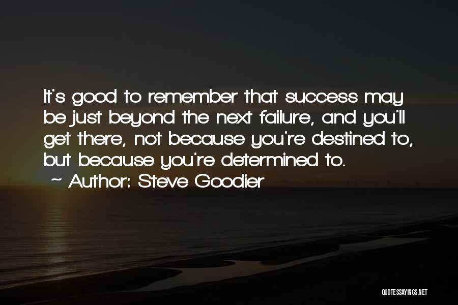 Failures To Success Quotes By Steve Goodier