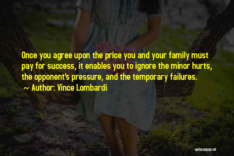 Failures To Success Quotes By Vince Lombardi