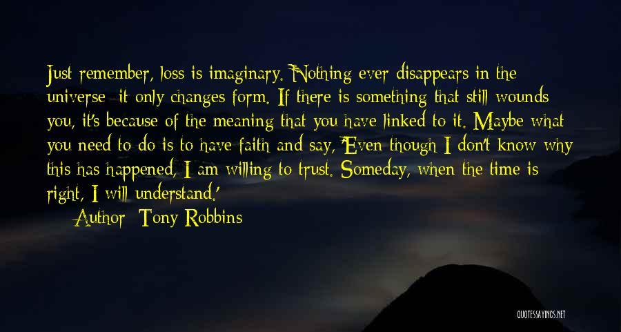 Faith And Loss Quotes By Tony Robbins