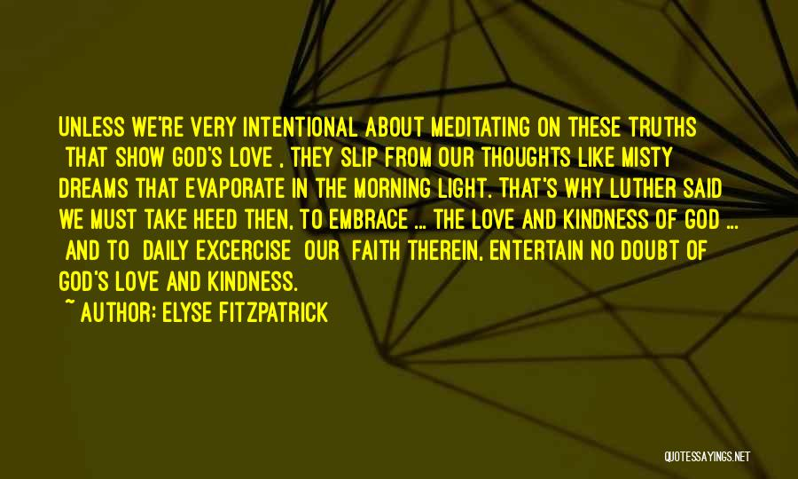 Faith In Dreams Quotes By Elyse Fitzpatrick