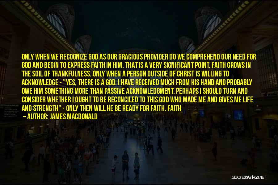 Faith In Him Quotes By James MacDonald