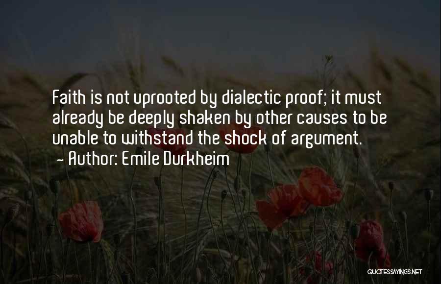 Faith Shaken Quotes By Emile Durkheim