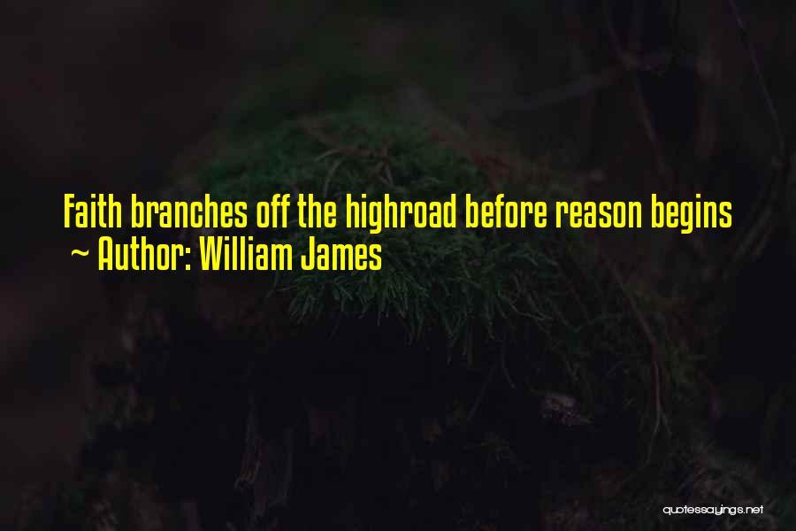 Faith Versus Reason Quotes By William James