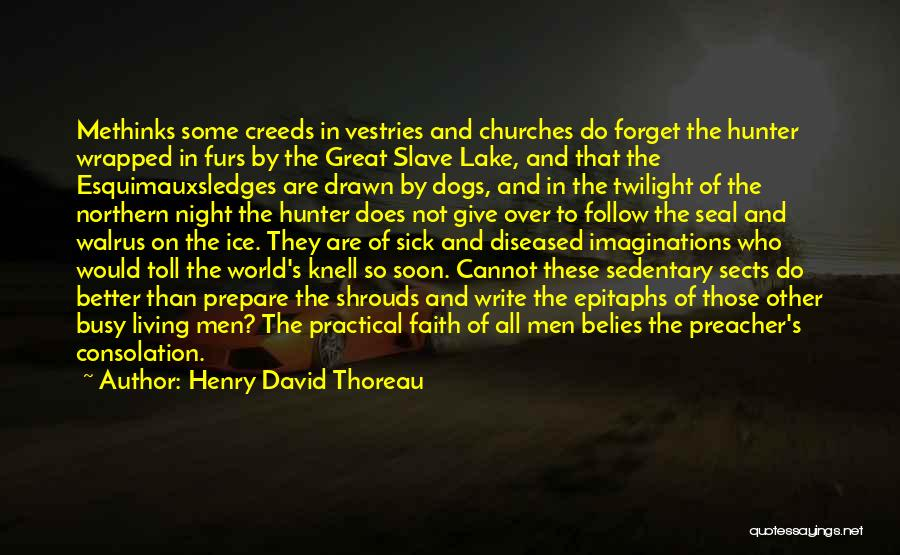 Faith When Sick Quotes By Henry David Thoreau