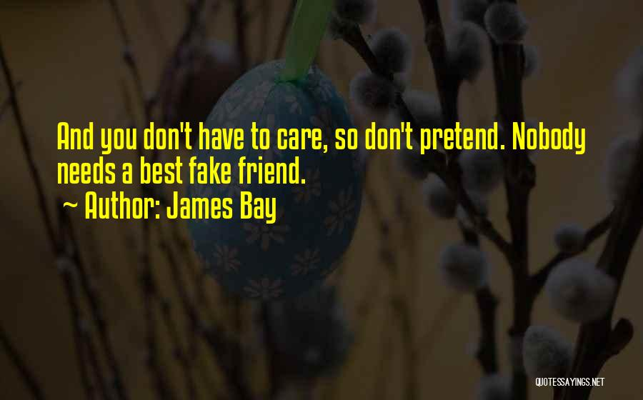 Fake Best Friends Quotes By James Bay