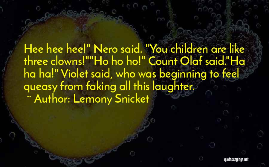 Faking Yourself Quotes By Lemony Snicket