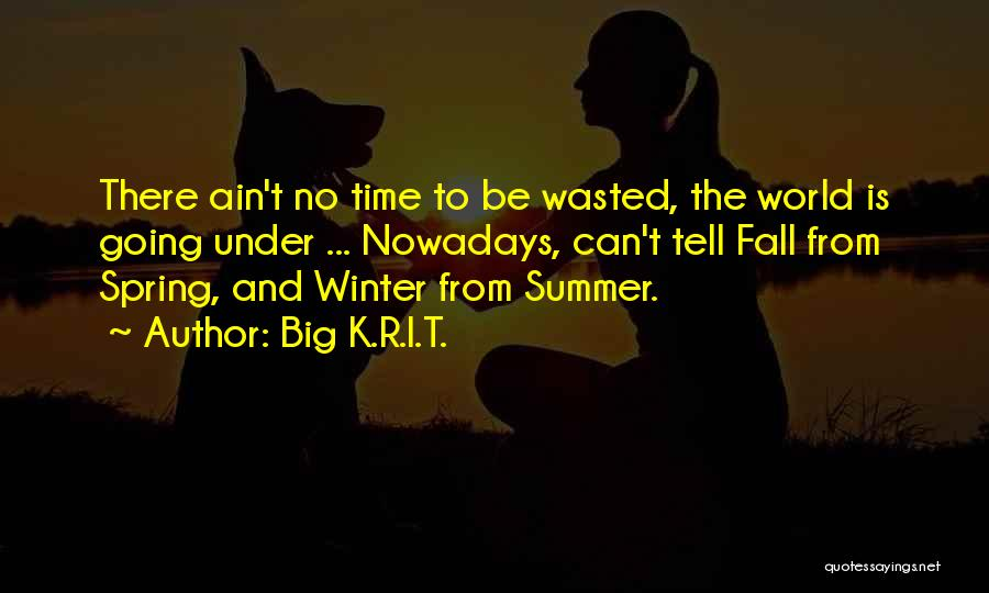 Fall And Winter Quotes By Big K.R.I.T.