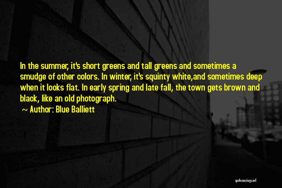 Fall And Winter Quotes By Blue Balliett