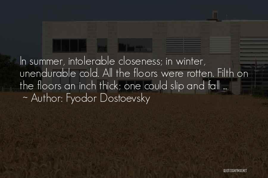 Fall And Winter Quotes By Fyodor Dostoevsky