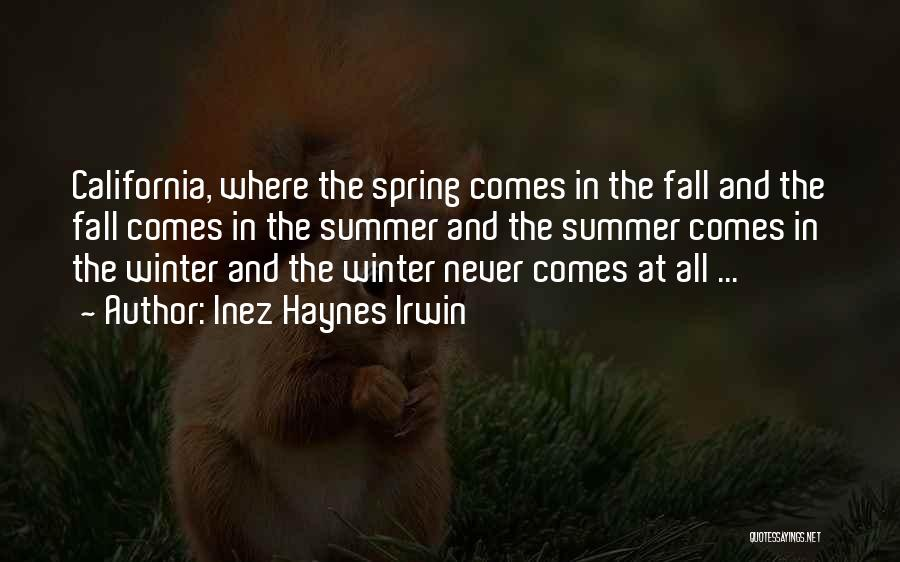 Fall And Winter Quotes By Inez Haynes Irwin