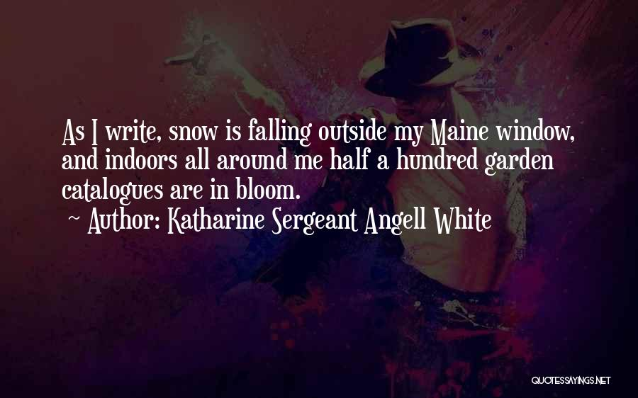 Fall And Winter Quotes By Katharine Sergeant Angell White