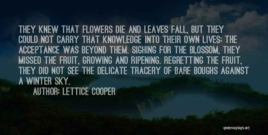 Fall And Winter Quotes By Lettice Cooper