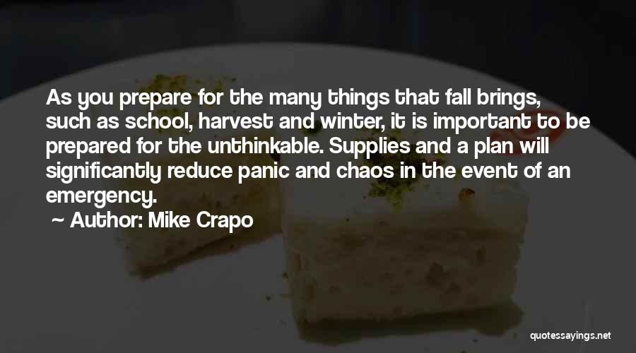 Fall And Winter Quotes By Mike Crapo