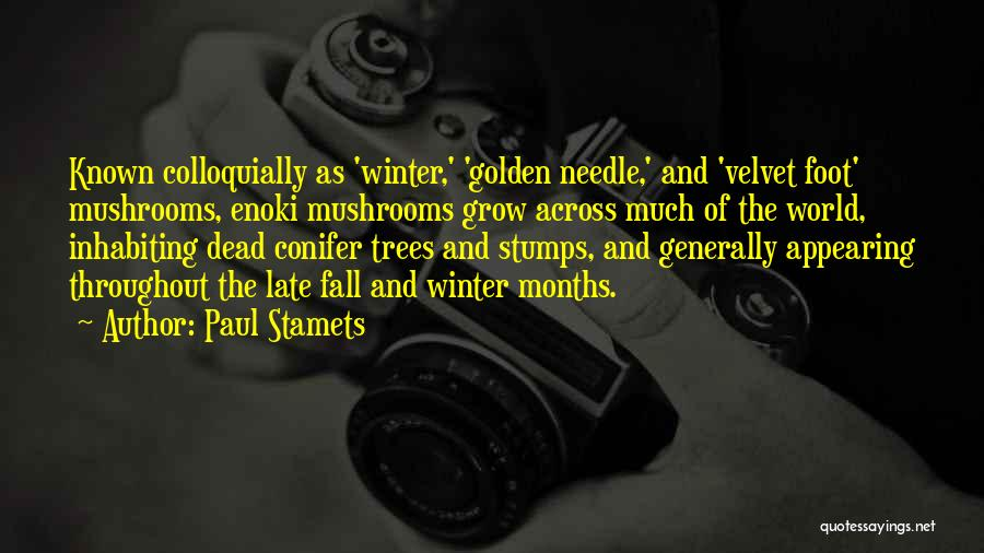 Fall And Winter Quotes By Paul Stamets