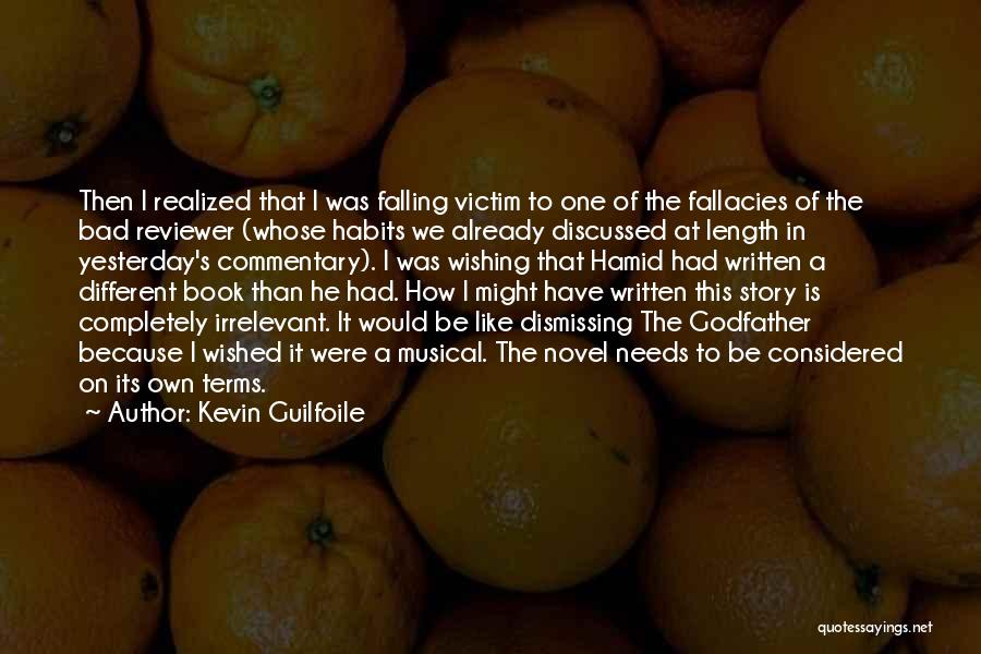 Falling For You Book Quotes By Kevin Guilfoile