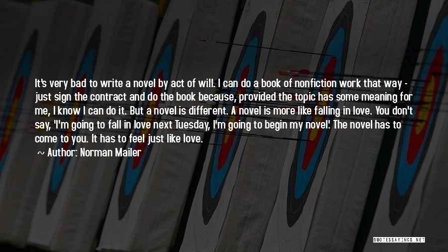 Falling For You Book Quotes By Norman Mailer