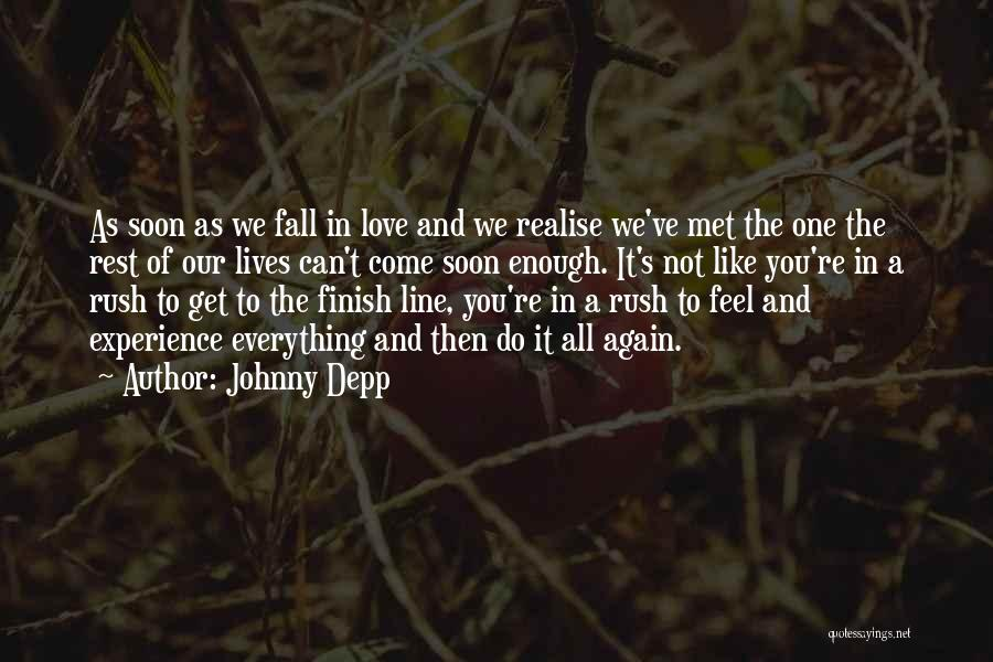 Falling In Love All Over Again Quotes By Johnny Depp