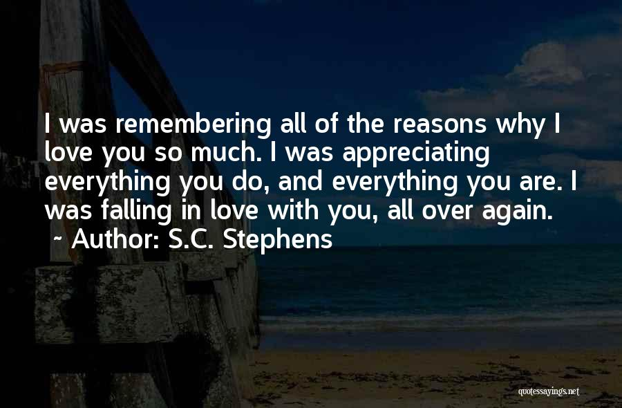 Falling In Love All Over Again Quotes By S.C. Stephens