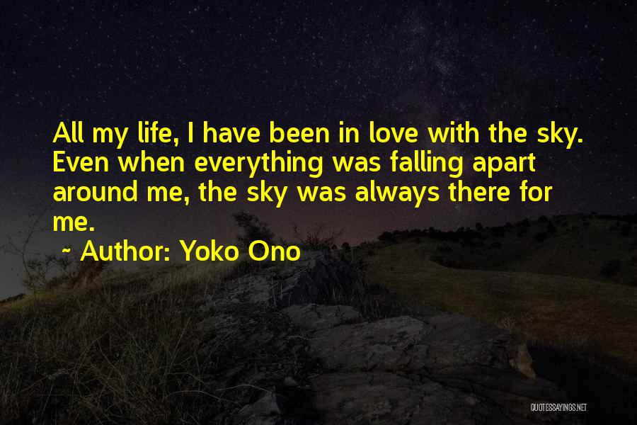 Falling In Love With Me Quotes By Yoko Ono